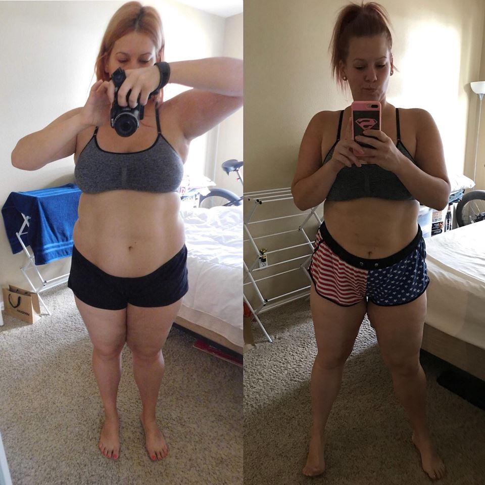 90 napos súlycsökkentő kihívás előtte és utána)