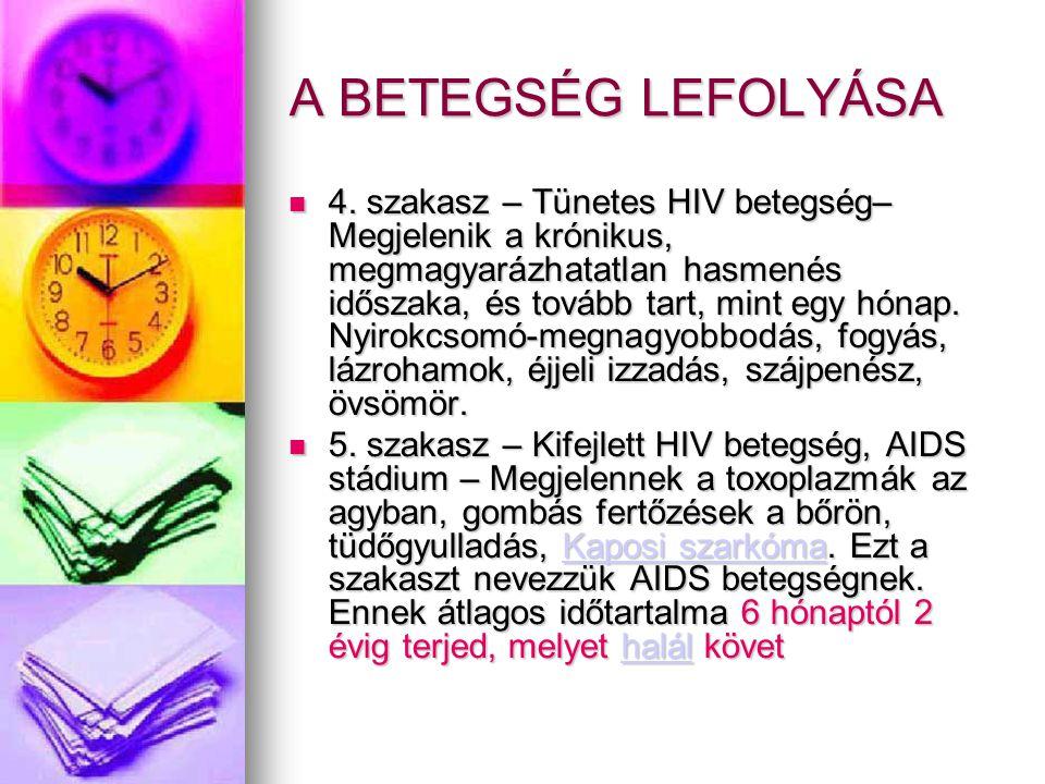 hiv pozitív fogyás